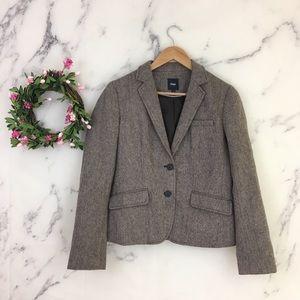 GAP 100% Wool Herringbone Blazer